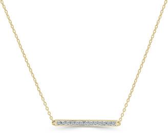 Sabrina Designs 14K 0.10 Ct. Tw. Diamond Bar Necklace