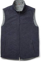 Isaia Reversible Suede and Shell Gilet