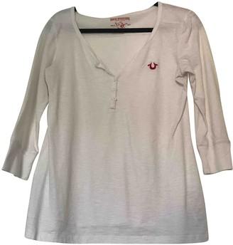 True Religion White Cotton Top for Women