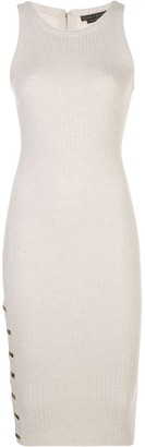 Alice + Olivia Ribbed Knit Hardware Detail Dress