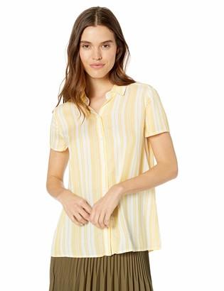 Max Studio Women's Rayon Stripe hi-lo Short Sleeve top