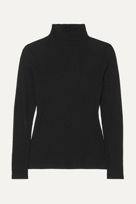 Ninety Percent Kaye Ribbed Organic Cotton-jersey Turtleneck Top - Black