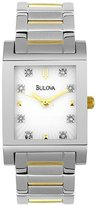 Bulova Watches Ladies Diamonds Diamond Hour Markers Curved Ccrystal Women's Watch