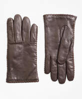 Brooks Brothers Whipstitched Cashmere-Lined Leather Gloves
