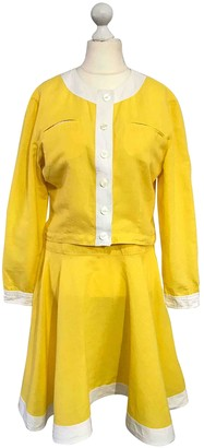 Fendi Yellow Linen Dresses