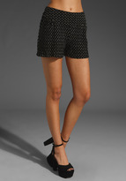 Anna Sui Puckered Knit Shorts