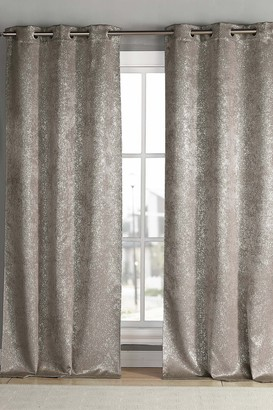 "Duck River Textile Maddie Blackout Grommet Curtains 96"" - Set of 2 - Mouse"