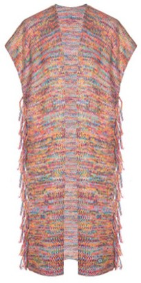 You By Tokarska Frida Fringed Sweater Vest Multicolour Yellow