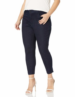 NYDJ Women's Plus Size AMI Skinny Ankle with Clean Slit