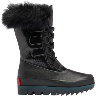 Sorel Joan of Arctic Next Premium Shearling-Trimmed Leather Boots