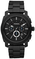 Fossil Machine Chronograph Bracelet Strap Watch, Black