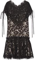 Wes Gordon Beatrix corded cotton-blend lace mini dress