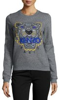 Kenzo Icon Tiger-Embroidered Sweatshirt, Anthracite