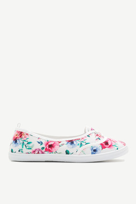 Ardene Floral Canvas Slip-On Sneakers