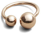Kenneth Cole Rose Goldtone Open Ball Ring