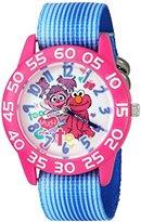 EWatchFactory Girl's 'Sesame Street' Quartz Plastic and Nylon Automatic Watch, Color:Blue (Model: W003194)