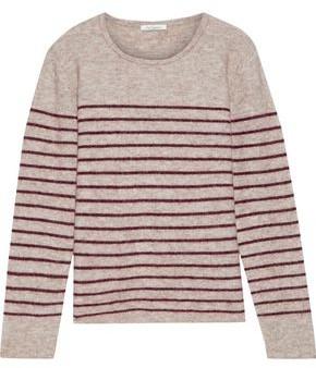 Mes Demoiselles Artaud Striped Brushed Intarsia-knit Sweater
