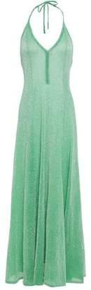 Missoni Metallic Crochet-knit Halterneck Maxi Dress