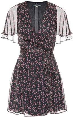 ALEXACHUNG Floral-printed minidress