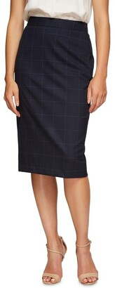 Oxford Peggy Eco Checked Suit Skirt