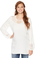 Motherhood Wendy Bellissimo Lace Trim Maternity Blouse