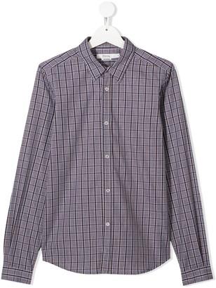 Bonpoint TEEN check long-sleeve shirt