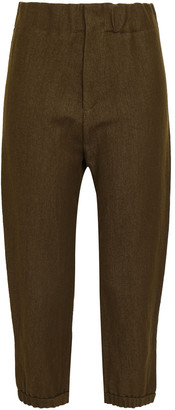 Marni Cropped Linen And Wool-blend Tapered Pants