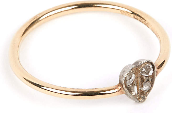 Annina Vogel 9 carat gold and diamond heart ring