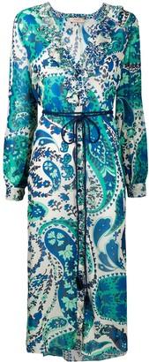 Twin-Set floral-print chiffon shirt dress