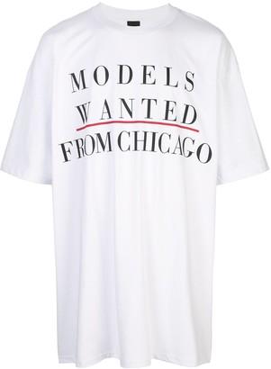 Bernhard Willhelm Modeling Ad print T-shirt