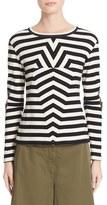 MM6 MAISON MARGIELA Women's Stripe Rib Jersey Top