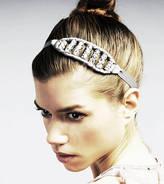 Blakegodbold Crystal And Grosgrain Ribbon Headband