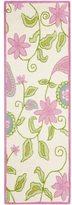 Safavieh Handmade Kids Ivory/ Pink Wool Rug (2'3 x 9')
