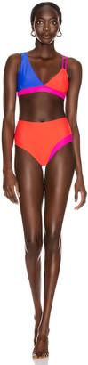 Sebastien Alexis Bikini in Blue, Red & Hot Pink | FWRD