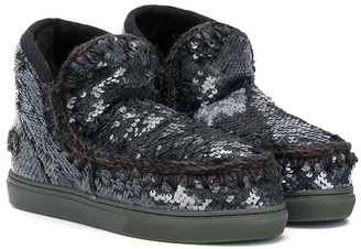 Mou Kids TEEN sequinned Eskimo snow boots