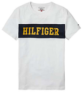 Hilfiger Denim Crew Neck Basic T-shirt, Classic White