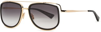Christian Roth CRS-100 Gold-tone Square-frame Sunglasses