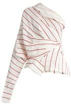 Awake Upside-down asymmetric striped top