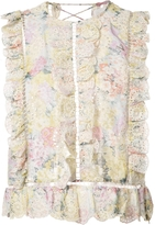 Zimmermann Sleeveless Embroidered Top