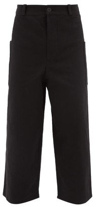 Toogood - The Conductor Patch-pocket Cotton Trousers - Mens - Black
