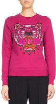 Kenzo Tiger Classic Pullover Sweatshirt, Fuchsia