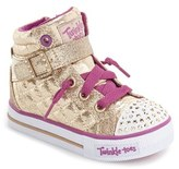 Skechers Toddler Girl's 'Twinkle Toes - Shuffles' Light-Up High Top Sneaker