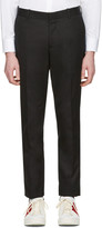 Alexander McQueen Black Pleated Trousers