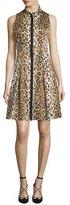 Carolina Herrera Sleeveless Cheetah-Print Shirtdress, Cheetah