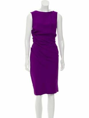 Christian Dior Sleeveless Midi Dress Purple