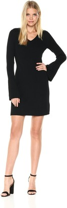 Laundry by Shelli Segal Women's Fit and Flare Sweater Dress with Pleated Cuff