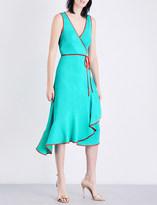 Diane von Furstenberg Asymmetric ruffled jersey wrap dress