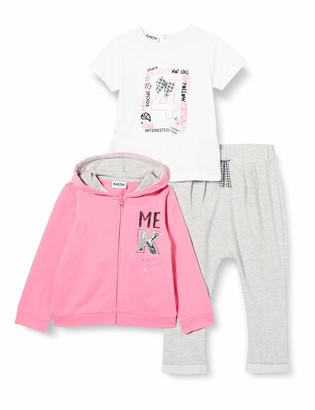 MEK Baby Girls' Compl.3pz Felpina Senza Piede Clothing Set