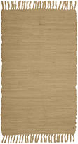 JCPenney Park Smith Agra Solid Washable Cotton Rectangular Rug