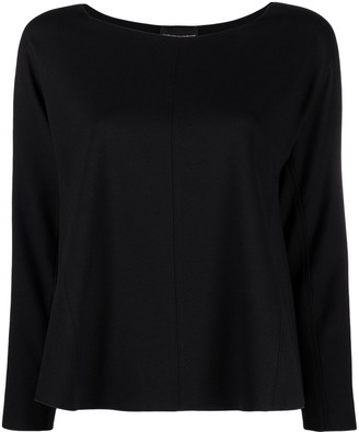 Emporio Armani Flared Boat Neck Top